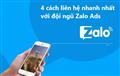 4 cách liên hệ nhanh nhất với đội ngũ hỗ trợ Zalo Ads