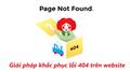 Bật mí giải pháp khắc phục lỗi 404 trên Website