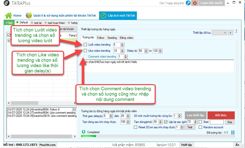 Cách tương tác và nuôi tài khoản TikTok với TikTokPlus an toàn nhất 2