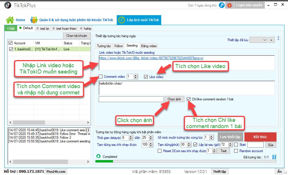 Cách tương tác và nuôi tài khoản TikTok với TikTokPlus an toàn nhất 4
