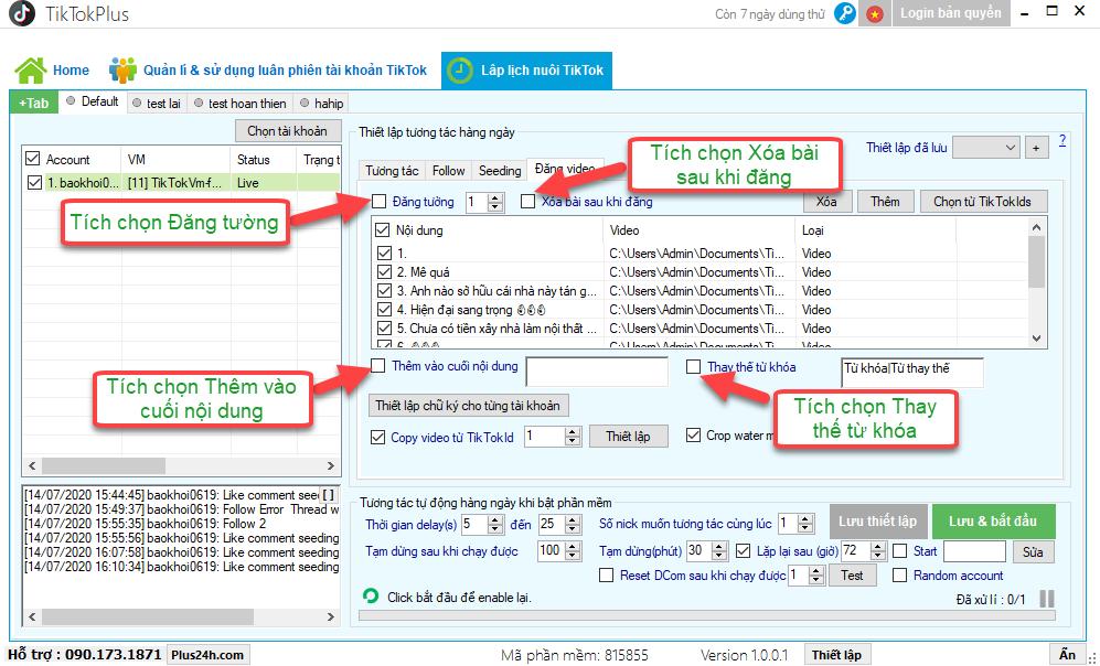 Cách tương tác và nuôi tài khoản TikTok với TikTokPlus an toàn nhất 5