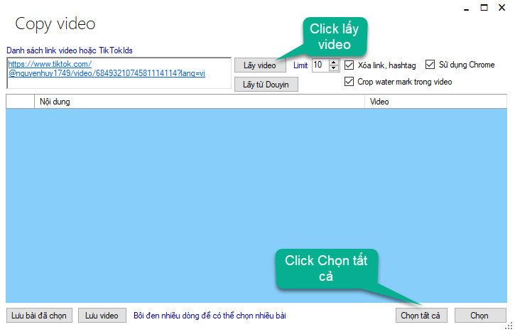 Lập lịch copy video từ tiktok về tài khoản TikTok - TikTokPlus 3