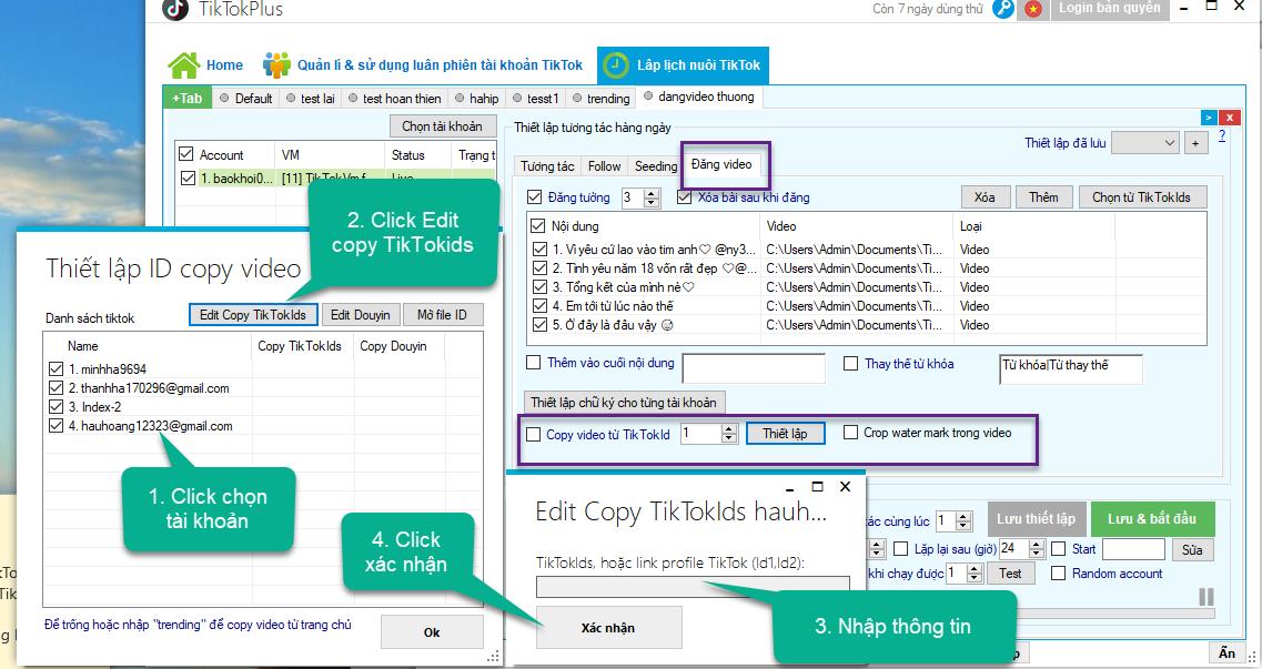 Lập lịch đăng video lên tài khoản TikTok – TikTokPlus 2