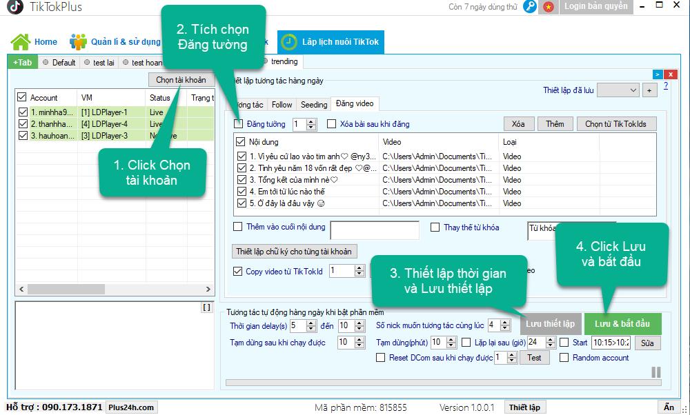 Lập lịch đăng video lên tài khoản TikTok – TikTokPlus 1