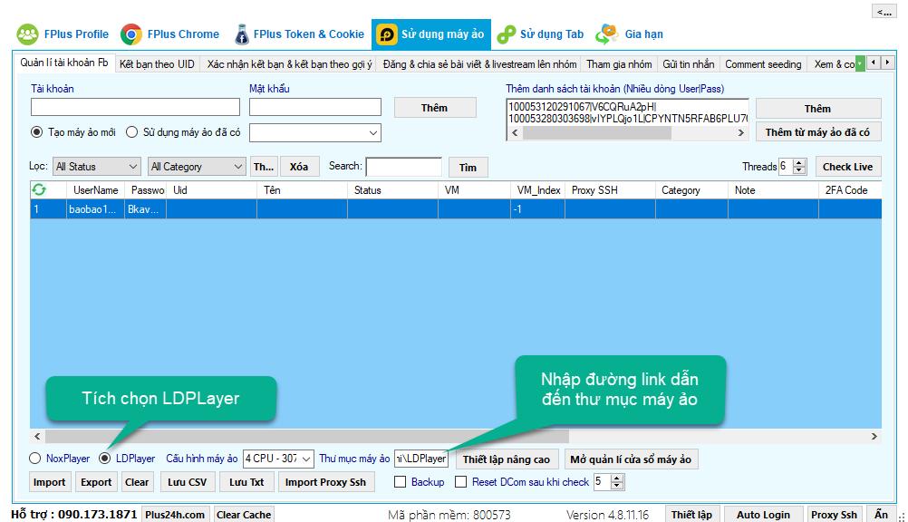 Hướng dẫn cài đặt máy ảo và khởi chạy cho tài khoản trên phần mềm Fplus 6