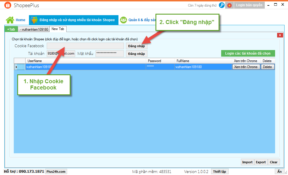 Hướng dẫn đăng nhập và sử dụng nhiều tài khoản Shopee 1