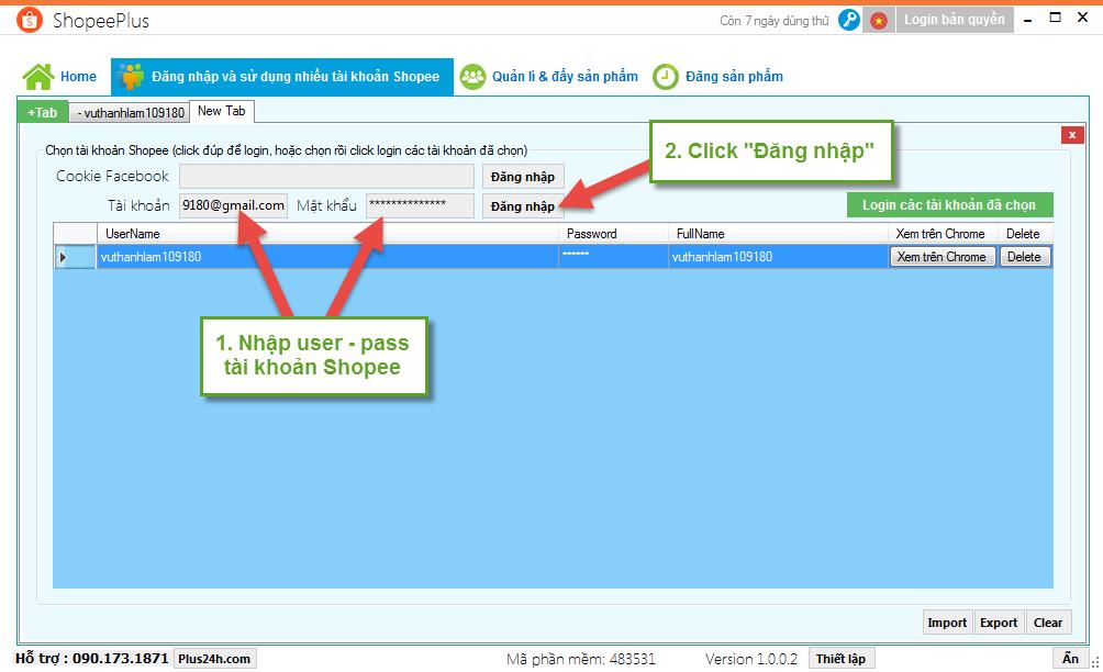 Hướng dẫn đăng nhập và sử dụng nhiều tài khoản Shopee 2