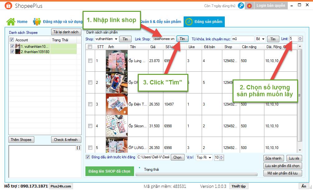 Tính năng copy sản phẩm từ shop khác đăng lên Shopee 2