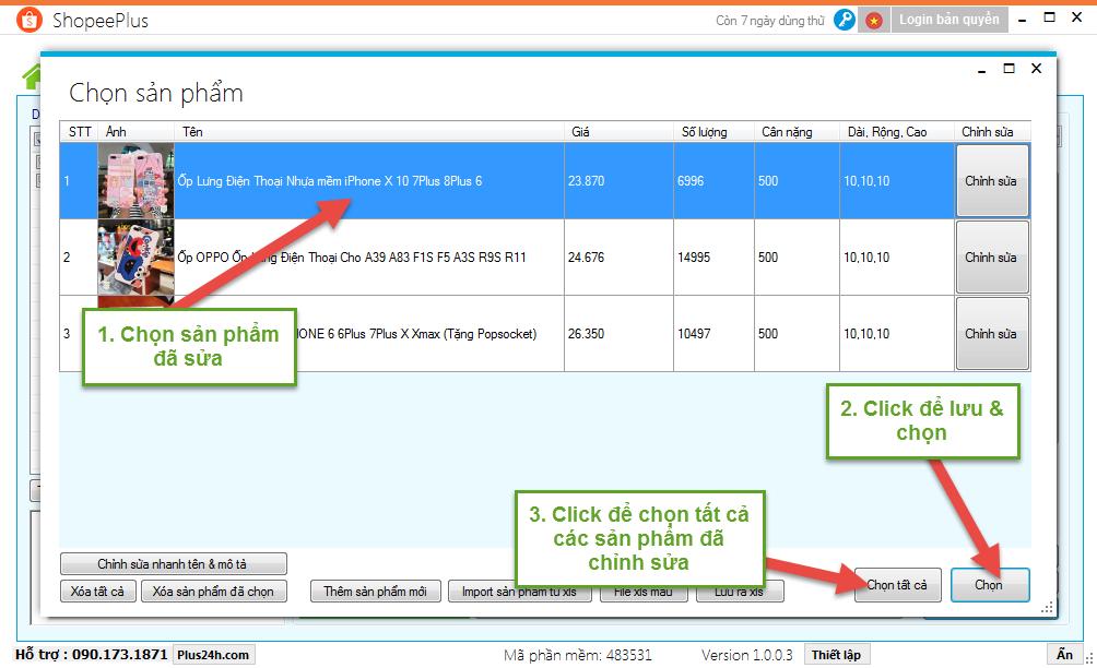 Tính năng copy sản phẩm từ shop khác đăng lên Shopee 11