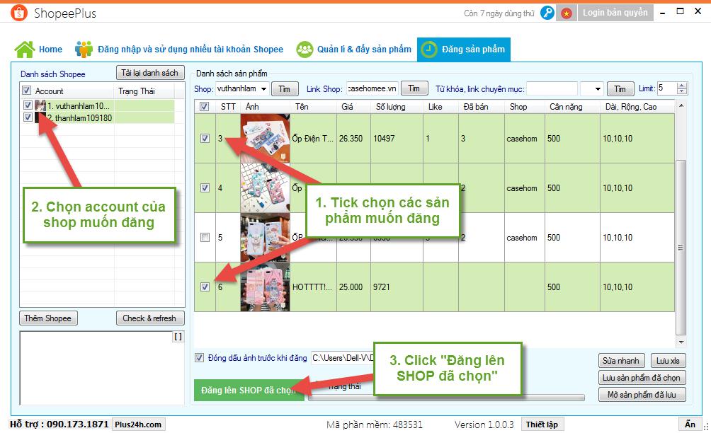 Copy sản phẩm theo từ khóa hoặc chuyên mục trên Shopee 15