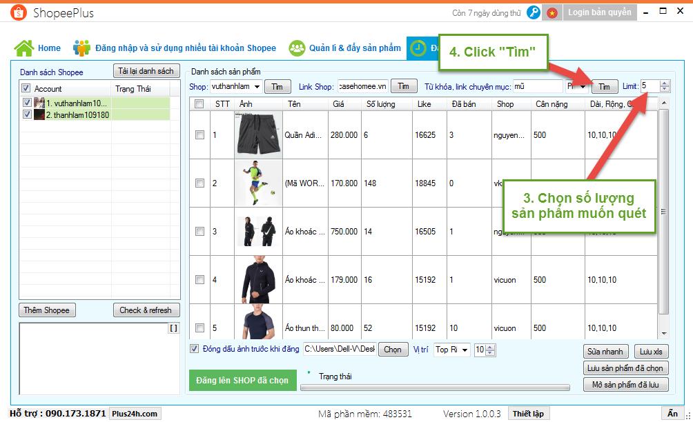 Copy sản phẩm theo từ khóa hoặc chuyên mục trên Shopee 3