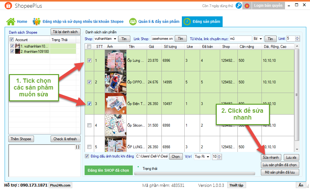 Tính năng copy sản phẩm từ shop khác đăng lên Shopee 4