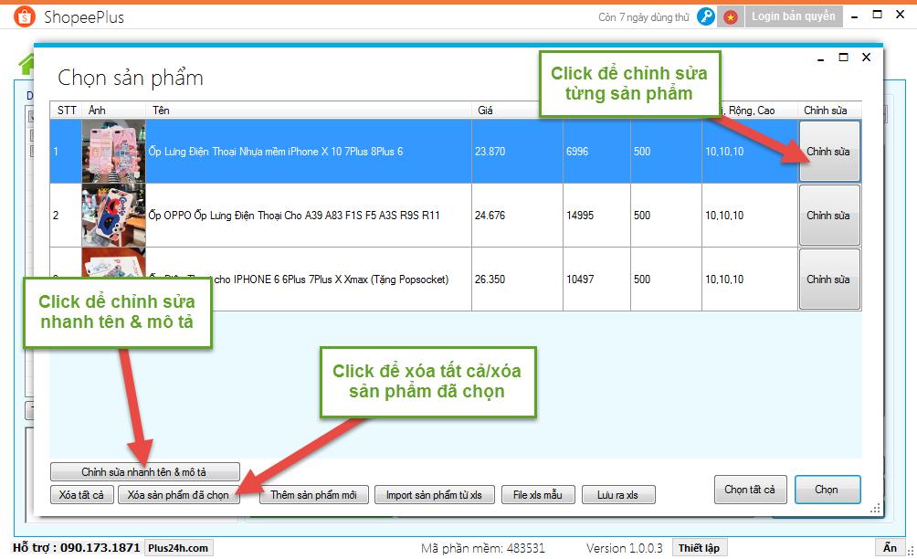 Copy sản phẩm theo từ khóa hoặc chuyên mục trên Shopee 9