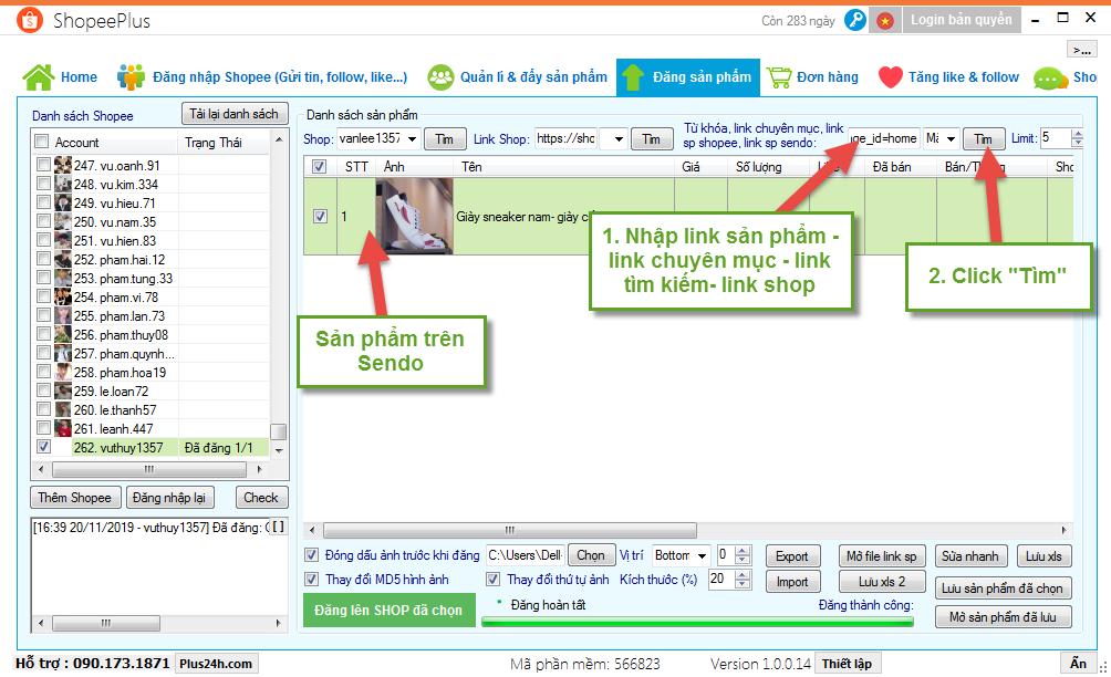 Copy sản phẩm từ Sendo sang Shopee - ShopeePlus 1