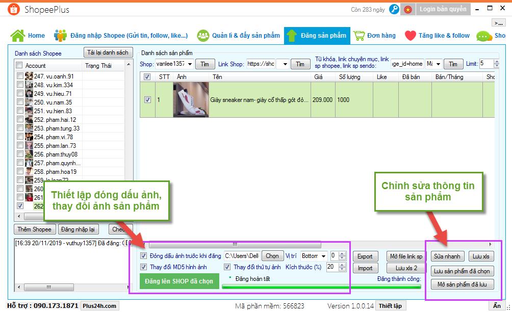 Copy sản phẩm từ Sendo sang Shopee - ShopeePlus 2