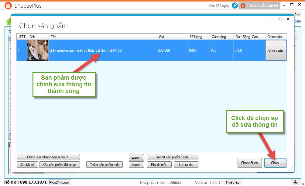 Copy sản phẩm từ Sendo sang Shopee - ShopeePlus 5