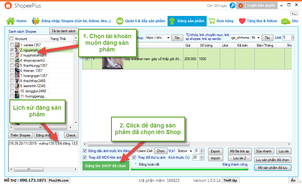 Copy sản phẩm từ Sendo sang Shopee - ShopeePlus 6