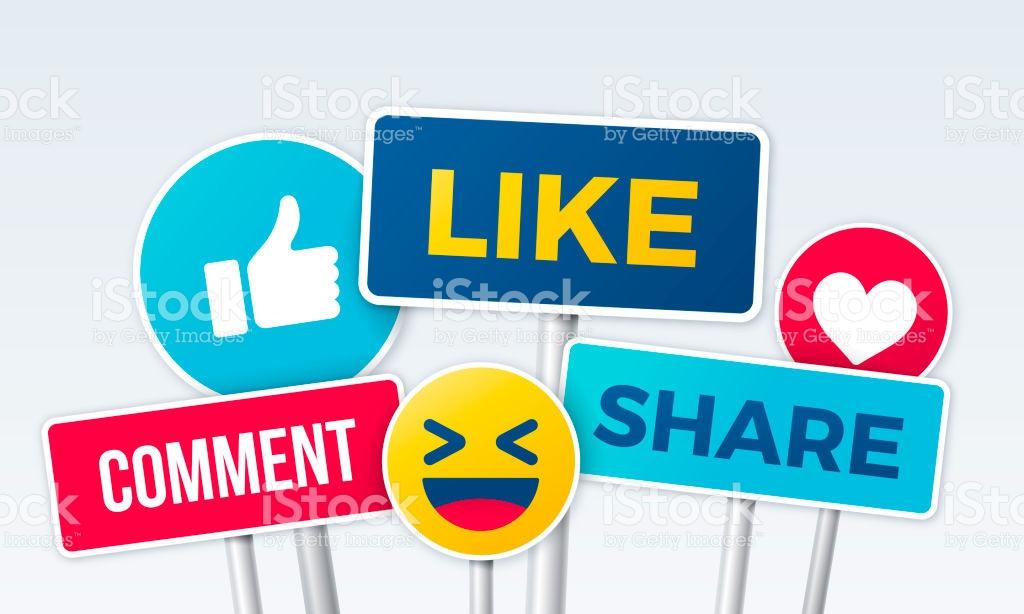 Kết quả hình ảnh cho like comment share